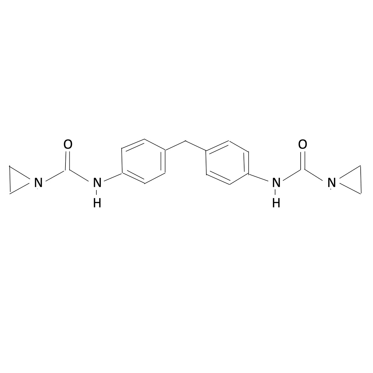 PZBI-25 Polyfunctional Aziridine Chemical Structure
